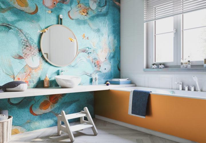 Wizualizacja łazienki dla dzieci – artykuł prasowy