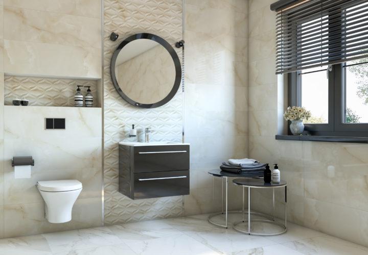 Wizualizacja łazienki 3D – Azario Opal